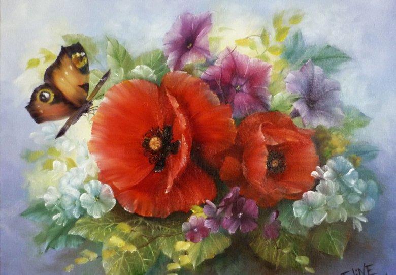 Workshop Bloemen schilderen Gary Jenkins