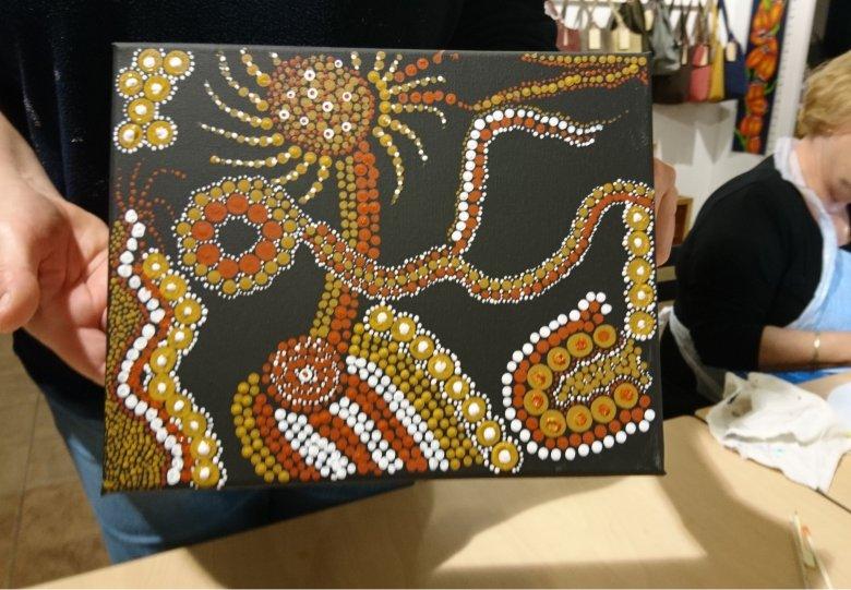 Als een Aboriginal schilderen