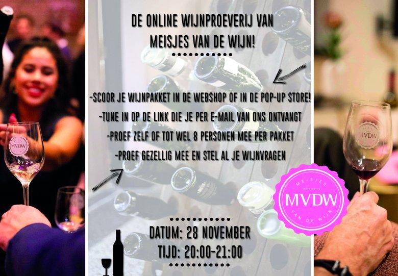 Online Wijnproeverij MVDW 28 november