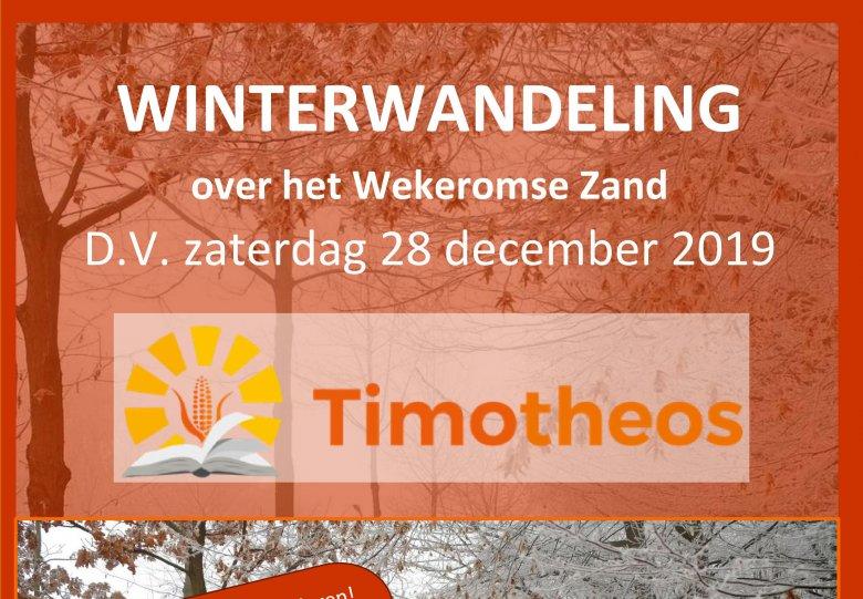 Winterwandeling over het Wekeromse Zand, 4.5 en 7.5 km. Met puzzeltocht voor kinderen!