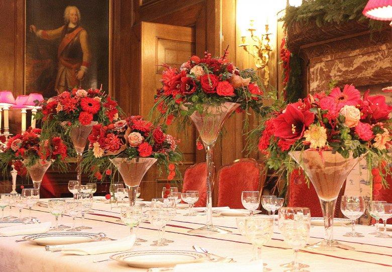 Een bloemrijke kerst op kasteel Middachten