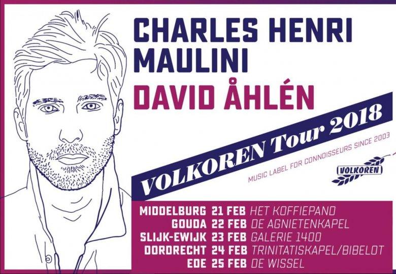 Volkoren Tour 2018: David Ahlén en Charles-Henri Maulini in concert in Het Witte Kerkje in Slijk-Ewi