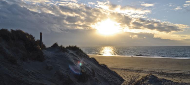 Water en strand op Schouwen-Duiveland