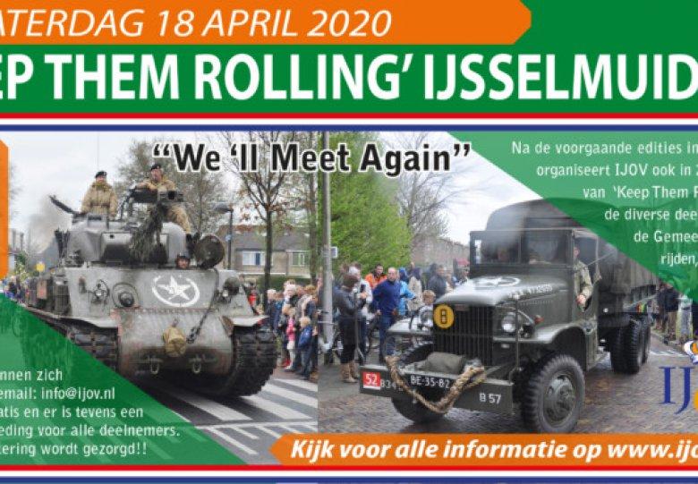 Historische karavaan van oude legervoertuigen: Keep Them Rolling