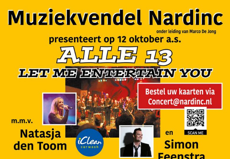 Alle 13 thema concert: Let me entertain you