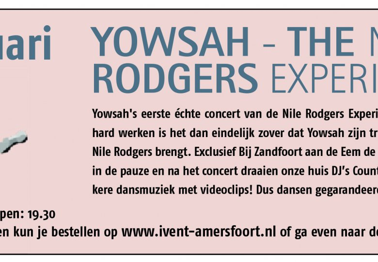 Yowsah – The Nile Rodgers Experience