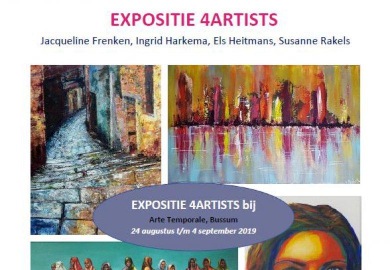 Expositie 4ARTISTS in Arte Temporale