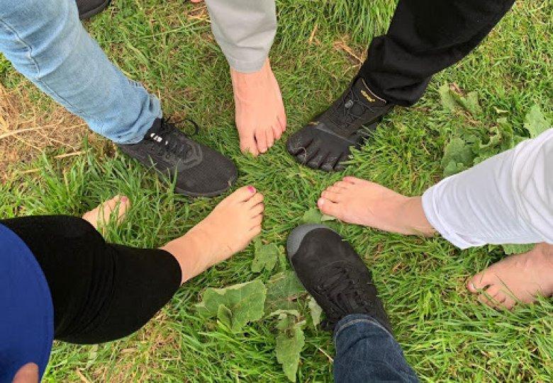 Barefoot wandelen De Kemphaan