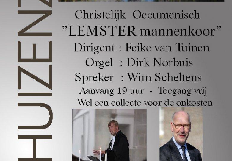 Lemster Mannenkoor spreker: ds. Wim Scheltens