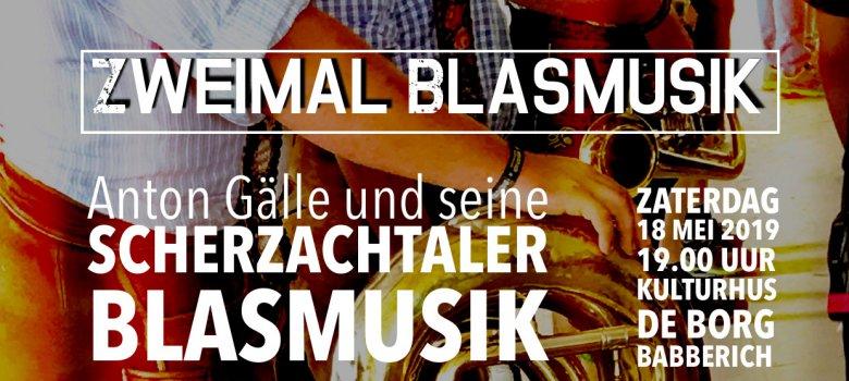 'Zweimal Blasmusik 2019' met  Scherzachtaler Blasmusik
