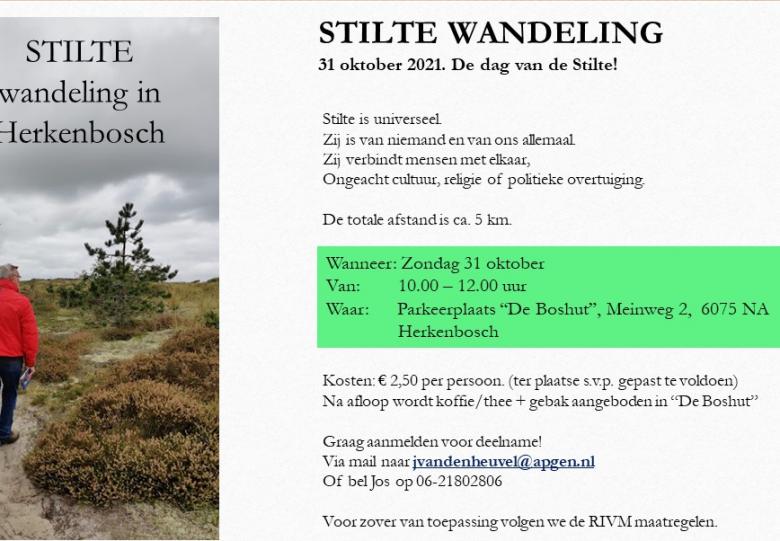 Stilte Wandeling in Herkenbosch