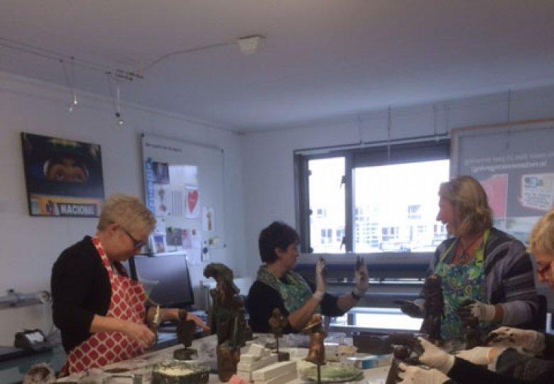 Workshop beeld maken in speksteen of brons-look